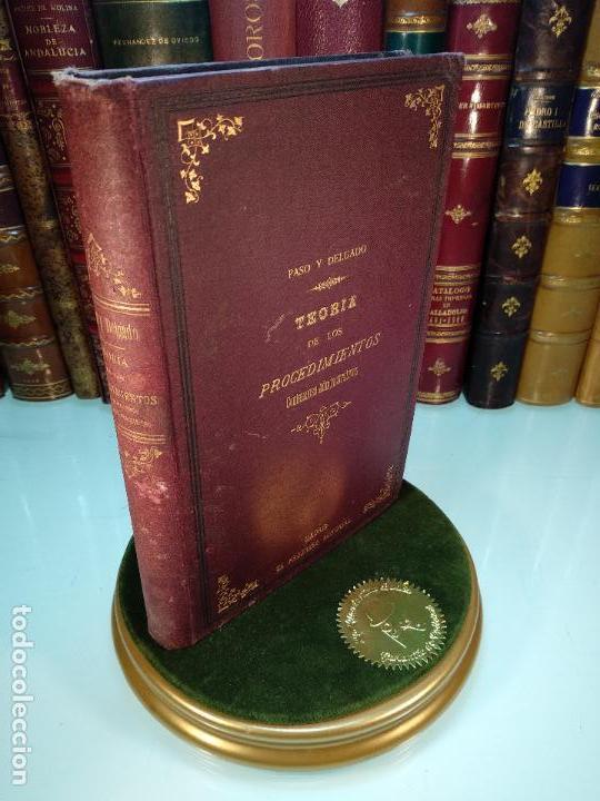TEORÍA DE LOS PROCEDIMIENTOS CONTENCIOSO-ADMINISTRATIVO - PASO Y DELGADO - MADRID - 1889 - (Libros Antiguos, Raros y Curiosos - Ciencias, Manuales y Oficios - Derecho, Economía y Comercio)