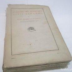 Libros antiguos: FELIPE CLEMENTE DE DIEGO: FUENTES DEL DERECHO CIVIL ESPAÑOL (MADRID, 1922).CON FIRMA ORIGINAL . Lote 117452287