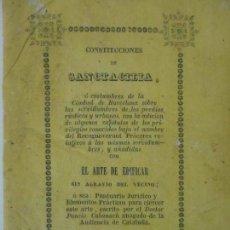 Libros antiguos: CONSTRUCCIONES DE SANCTACILIA - EL ARTE DE EDIFICAR - GERONA (GIRONA) - AÑO 1842. Lote 117489443