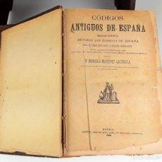 Libros antiguos: CÓDIGOS ANTIGUOS DE ESPAÑA. 2 TOMOS EN 1. MARCELO MARTÍNEZ ALCUBILLA. 1885.. Lote 117797079