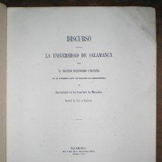 Libros antiguos: AGUSTÍN MALDONADO CARVAJAL: DISCURSO '...QUE SE ELEVE A LEY EL ACTUAL PROYECTO DE CÓDIGO CIVIL' 1861. Lote 118895471