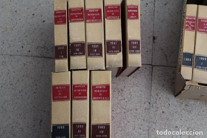 ARANZADI LIBRO DERECHO JURISPRUDENCIA, LEGISLACIÓN 1989, 1990, 1991 (Libros Antiguos, Raros y Curiosos - Ciencias, Manuales y Oficios - Derecho, Economía y Comercio)