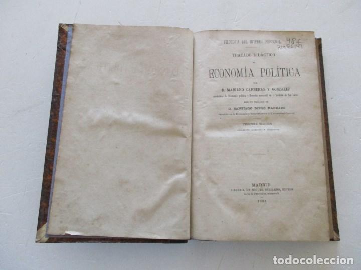 Libros antiguos: D. MARIANO CARRERAS Y GONZÁLEZ Tratado Didáctico de Economía Política. RM86141 - Foto 2 - 119970247