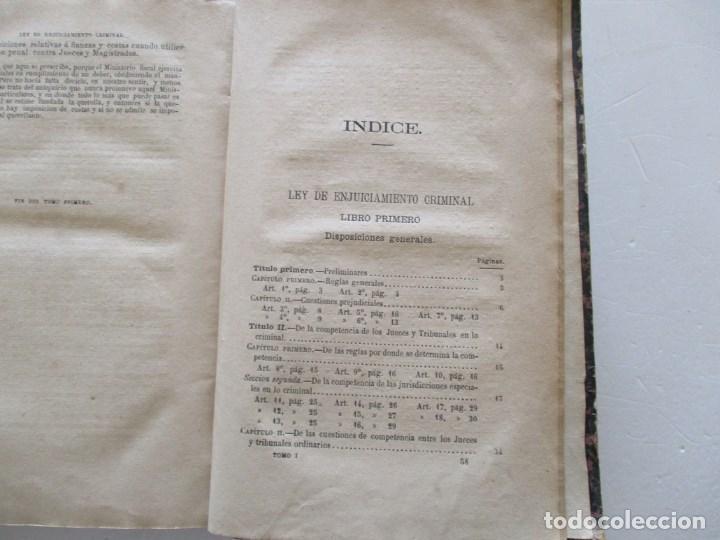 Libros antiguos: VV. AA. Ley de Enjuiciamiento Criminal de 14 de Setiembre de 1882. Tomos I y II. DOS TOMOS. RM86160 - Foto 3 - 119976267