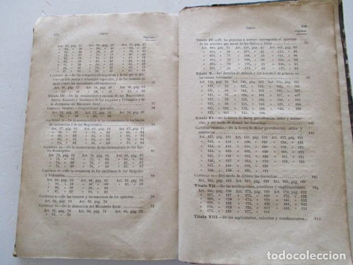 Libros antiguos: VV. AA. Ley de Enjuiciamiento Criminal de 14 de Setiembre de 1882. Tomos I y II. DOS TOMOS. RM86160 - Foto 4 - 119976267