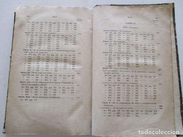 Libros antiguos: VV. AA. Ley de Enjuiciamiento Criminal de 14 de Setiembre de 1882. Tomos I y II. DOS TOMOS. RM86160 - Foto 5 - 119976267