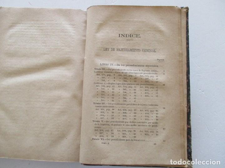 Libros antiguos: VV. AA. Ley de Enjuiciamiento Criminal de 14 de Setiembre de 1882. Tomos I y II. DOS TOMOS. RM86160 - Foto 10 - 119976267