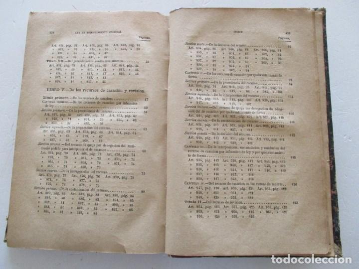 Libros antiguos: VV. AA. Ley de Enjuiciamiento Criminal de 14 de Setiembre de 1882. Tomos I y II. DOS TOMOS. RM86160 - Foto 11 - 119976267