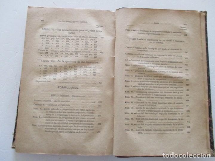 Libros antiguos: VV. AA. Ley de Enjuiciamiento Criminal de 14 de Setiembre de 1882. Tomos I y II. DOS TOMOS. RM86160 - Foto 12 - 119976267