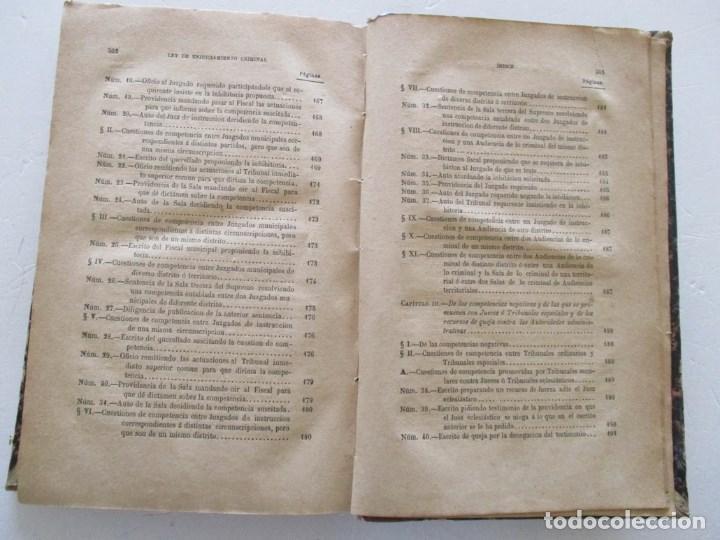 Libros antiguos: VV. AA. Ley de Enjuiciamiento Criminal de 14 de Setiembre de 1882. Tomos I y II. DOS TOMOS. RM86160 - Foto 13 - 119976267