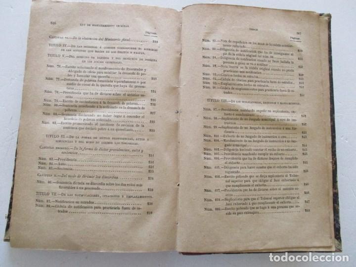 Libros antiguos: VV. AA. Ley de Enjuiciamiento Criminal de 14 de Setiembre de 1882. Tomos I y II. DOS TOMOS. RM86160 - Foto 15 - 119976267