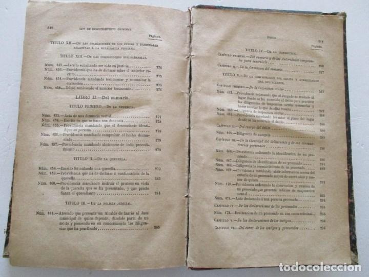 Libros antiguos: VV. AA. Ley de Enjuiciamiento Criminal de 14 de Setiembre de 1882. Tomos I y II. DOS TOMOS. RM86160 - Foto 17 - 119976267