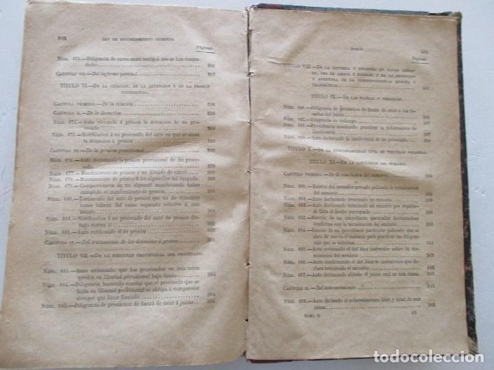 Libros antiguos: VV. AA. Ley de Enjuiciamiento Criminal de 14 de Setiembre de 1882. Tomos I y II. DOS TOMOS. RM86160 - Foto 18 - 119976267