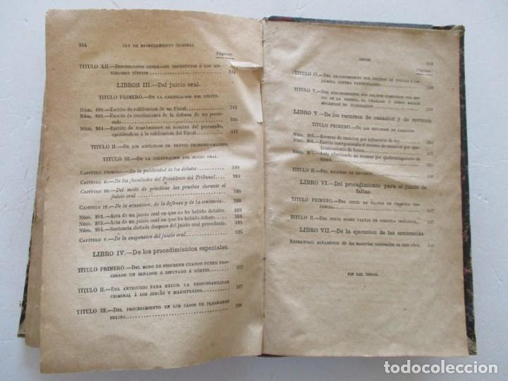 Libros antiguos: VV. AA. Ley de Enjuiciamiento Criminal de 14 de Setiembre de 1882. Tomos I y II. DOS TOMOS. RM86160 - Foto 19 - 119976267