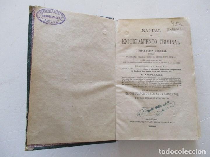 Libros antiguos: VV. AA. Manual de Enjuiciamiento Criminal. RM86162 - Foto 2 - 119977387