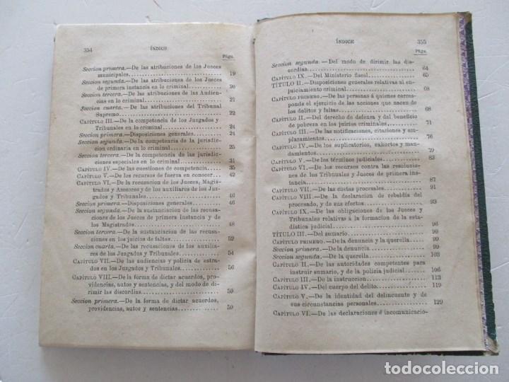 Libros antiguos: VV. AA. Manual de Enjuiciamiento Criminal. RM86162 - Foto 4 - 119977387