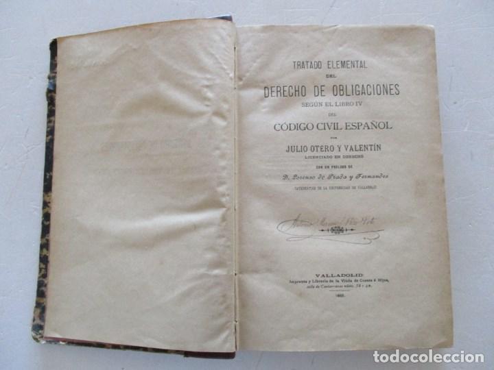 Tratado elemental del derecho de obligaciones s - Vendido en ...