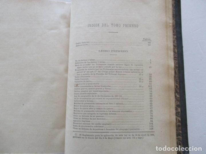 Libros antiguos: El Código Penal conforme á la doctrina establecida por el Tribunal Supremo. DOS TOMOS. RM86178 - Foto 3 - 119982699
