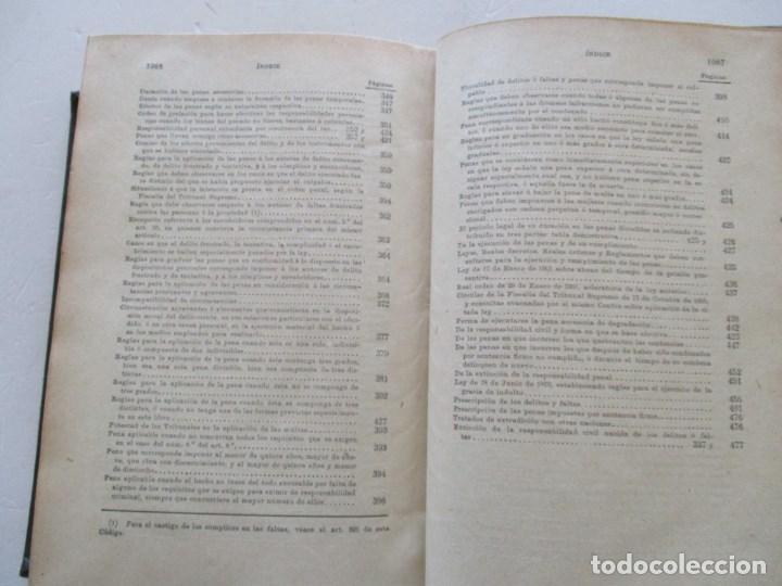 Libros antiguos: El Código Penal conforme á la doctrina establecida por el Tribunal Supremo. DOS TOMOS. RM86178 - Foto 5 - 119982699