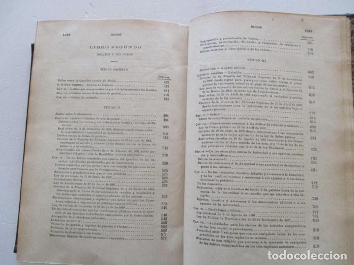 Libros antiguos: El Código Penal conforme á la doctrina establecida por el Tribunal Supremo. DOS TOMOS. RM86178 - Foto 6 - 119982699