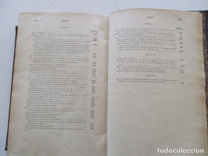 Libros antiguos: El Código Penal conforme á la doctrina establecida por el Tribunal Supremo. DOS TOMOS. RM86178 - Foto 7 - 119982699