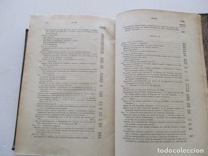 Libros antiguos: El Código Penal conforme á la doctrina establecida por el Tribunal Supremo. DOS TOMOS. RM86178 - Foto 9 - 119982699