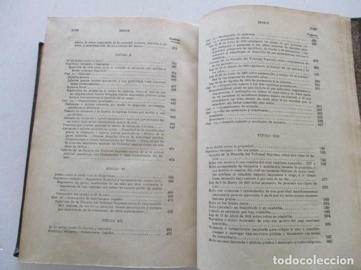 Libros antiguos: El Código Penal conforme á la doctrina establecida por el Tribunal Supremo. DOS TOMOS. RM86178 - Foto 10 - 119982699