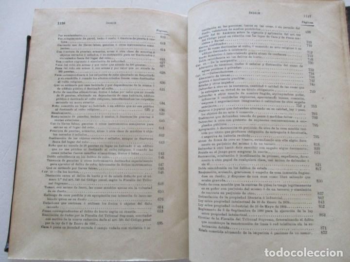 Libros antiguos: El Código Penal conforme á la doctrina establecida por el Tribunal Supremo. DOS TOMOS. RM86178 - Foto 11 - 119982699