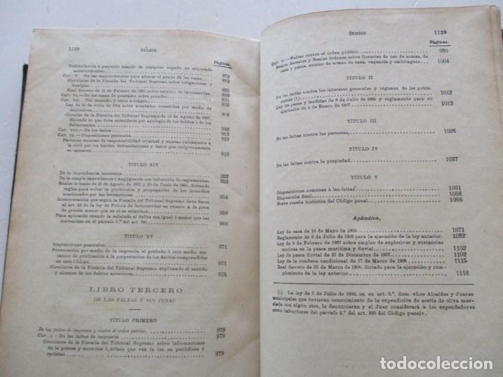 Libros antiguos: El Código Penal conforme á la doctrina establecida por el Tribunal Supremo. DOS TOMOS. RM86178 - Foto 12 - 119982699