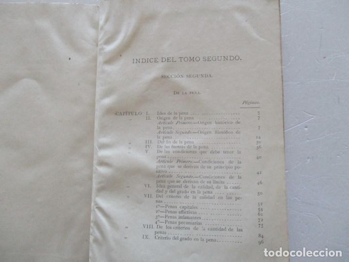 Libros antiguos: Programa del Curso de Derecho Criminal, desarrollado en la Universidad de Pisa. DOS TOMOS RM86179 - Foto 4 - 119983055