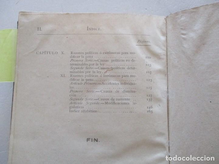 Libros antiguos: Programa del Curso de Derecho Criminal, desarrollado en la Universidad de Pisa. DOS TOMOS RM86179 - Foto 5 - 119983055