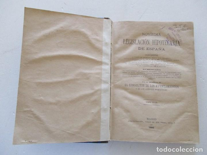Libros antiguos: Novísima Legislación Hipotecaria de España. RM86182. - Foto 2 - 119983823