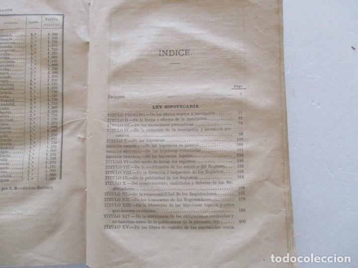 Libros antiguos: Novísima Legislación Hipotecaria de España. RM86182. - Foto 3 - 119983823