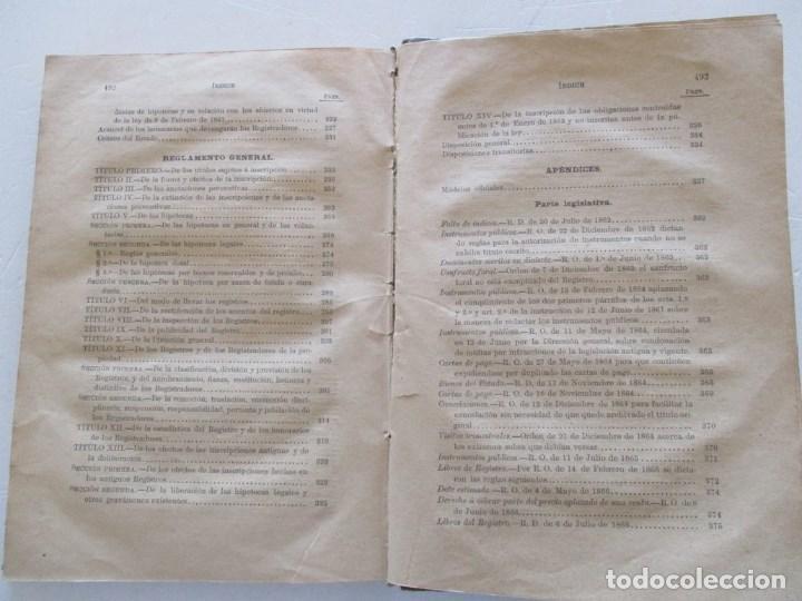 Libros antiguos: Novísima Legislación Hipotecaria de España. RM86182. - Foto 4 - 119983823
