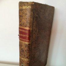 Libros antiguos: 1820: ELEMENTOS DE DERECHO NATURAL Y DE GENTES, GOTTLIEB HEINECCII ELEMENTA JURIS NATURAE ET GENTIUM. Lote 121233831