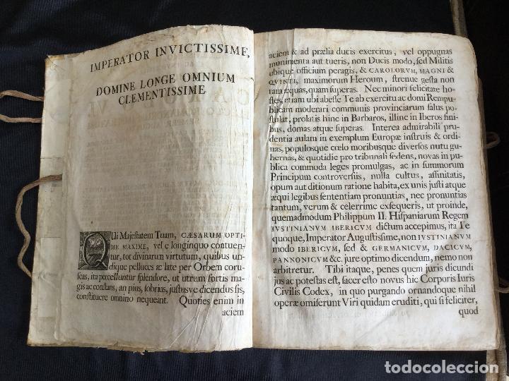 Libros antiguos: Corpus Iuris Civilis Romani, Carolus VI Romanorum Imperator Semper Augusto,1740 - Foto 3 - 122574423