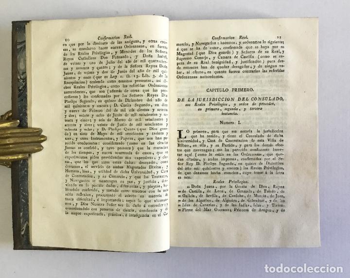 Libros antiguos: ORDENANZAS DE LA ILUSTRE UNIVERSIDAD, Y CASA DE CONTRATACION DE LA M. M. Y M. L. VILLA DE BILBAO... - Foto 5 - 123148815