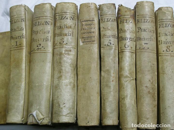 Libros antiguos: 1788. PRÁCTICA UNIVERSAL FORENSE DE LOS TRIBUNALES DE ESPAÑA Y DE LAS INDIAS. 8 TOMOS - Foto 2 - 124662607