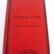 Libros antiguos: CÓDIGO CIVIL DE LA REPUBLICA ARGENTINA 1884.. Lote 125115943