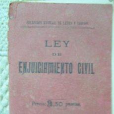 Libros antiguos: LEY DE ENJUICIAMIENTO CIVIL DE 3 DE FEBRERO DE 1881. Lote 125304571