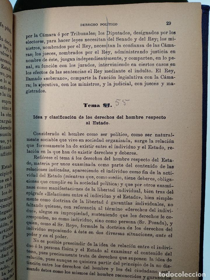 Libros antiguos: OPOSICIONES AL CUERPO DE ASPIRANTES A LA JUDICATURA Y MINISTERIO FISCAL - D. JOSÉ GASCÓN Y MARÍN - - Foto 5 - 125909639