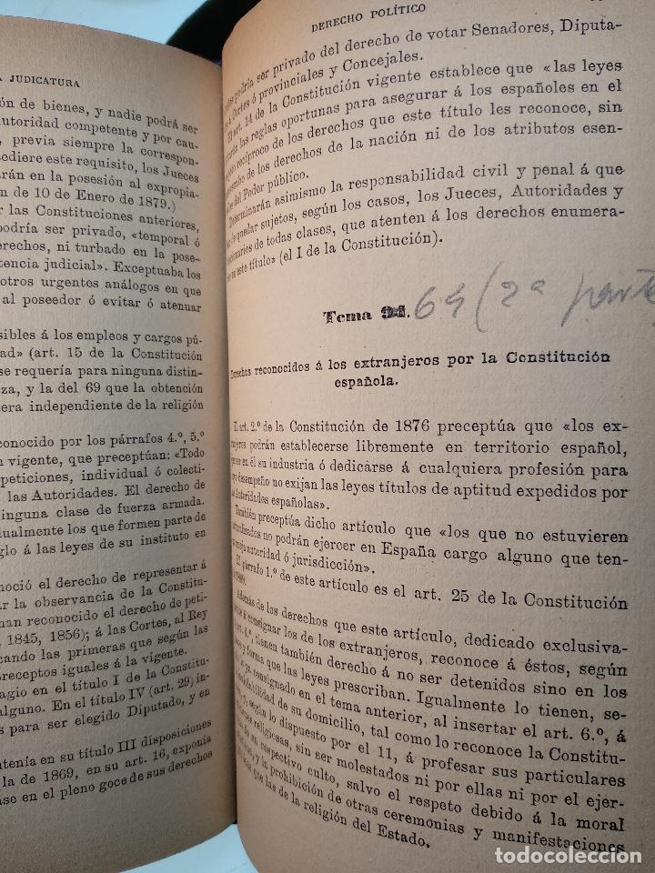 Libros antiguos: OPOSICIONES AL CUERPO DE ASPIRANTES A LA JUDICATURA Y MINISTERIO FISCAL - D. JOSÉ GASCÓN Y MARÍN - - Foto 6 - 125909639