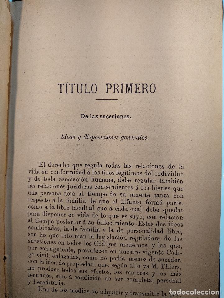 Libros antiguos: TESTAMENTARIAS Y ABINTESTATOS - LAS LEYES - PRIMERA EDICIÓN - MAYO DE 1890 - MADRID - - Foto 4 - 125953079