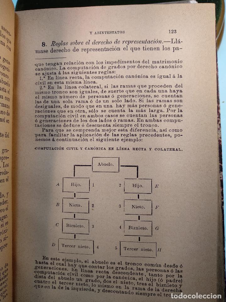 Libros antiguos: TESTAMENTARIAS Y ABINTESTATOS - LAS LEYES - PRIMERA EDICIÓN - MAYO DE 1890 - MADRID - - Foto 5 - 125953079