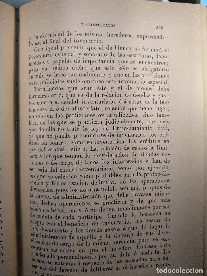 Libros antiguos: TESTAMENTARIAS Y ABINTESTATOS - LAS LEYES - PRIMERA EDICIÓN - MAYO DE 1890 - MADRID - - Foto 6 - 125953079