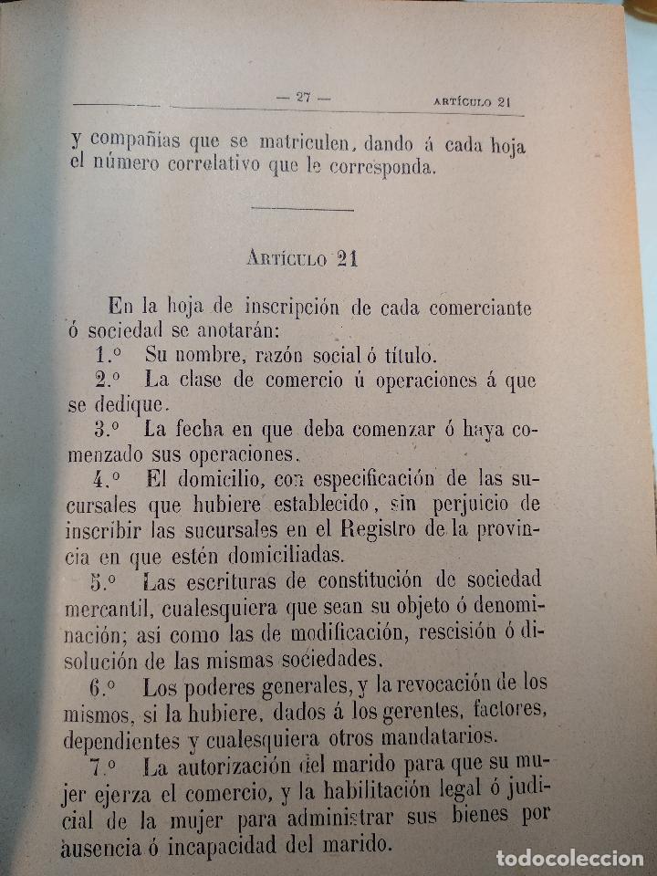 Libros antiguos: EL CÓDIGO DE COMERCIO INTERPRETADO POR EL TRIBUNAL SUPREMO - D. VICENTE LÓPEZ LARRUBIA - 1902 - - Foto 3 - 125957199