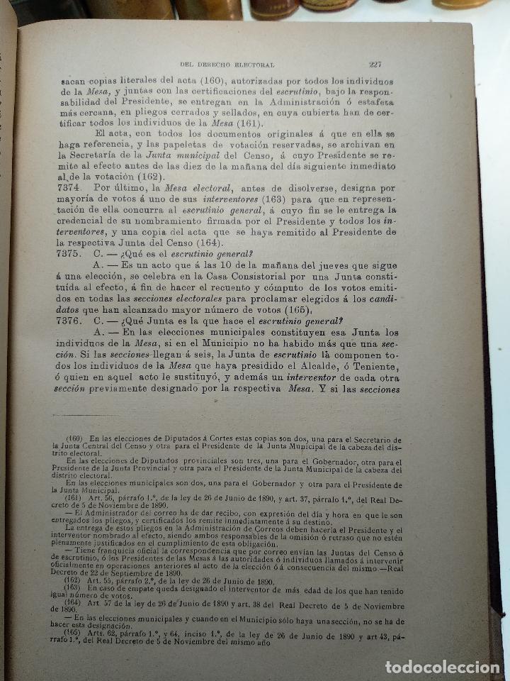 Libros antiguos: EL ABOGADO POPULAR - TOMO III - D. PEDRO HUGUET Y CAMPAÑA - MANUEL SOLER EDITOR - BARCELONA - - Foto 5 - 125957731
