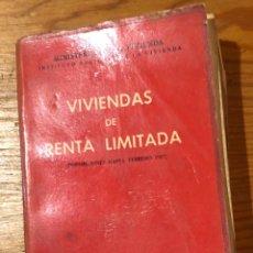Libros antiguos: VIVIENDAS DE RENTA LIMITADA(13€). Lote 126178155