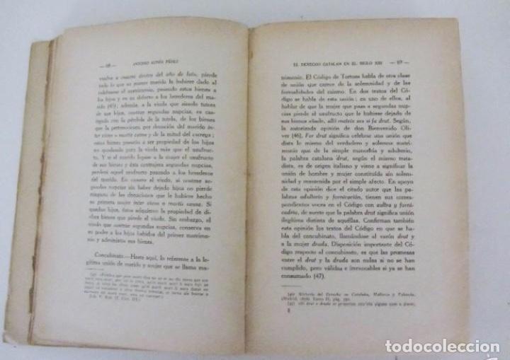 Libros antiguos: EL DERECHO CATALAN EN EL SIGLO XIII escrito por Antonio Aunós Pérez. Ediciones Helios, 1926. - Foto 3 - 126301239