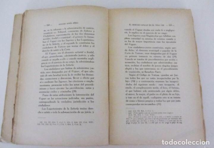 Libros antiguos: EL DERECHO CATALAN EN EL SIGLO XIII escrito por Antonio Aunós Pérez. Ediciones Helios, 1926. - Foto 4 - 126301239